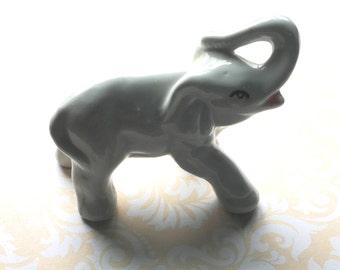 Vintage White Elephant Figurine