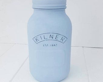 Hand Painted Kilner Mason Jars. Choice of Colours and sizes available. Home Decor, Wedding Decor