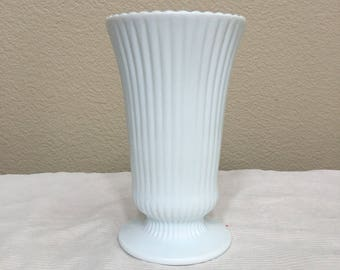 E.O. Brody Milk Glass vase