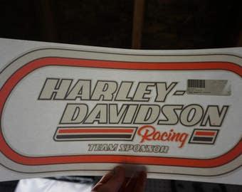 Harley Davidson Racing Window Decal