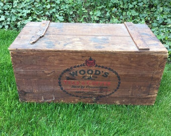 Wood Crate Large Vintage Coffee Crate Box Coffee Shipping Crate Wooden Woods Teas Coffee Boston MA Advertising Crate Berry Dodge Company Box