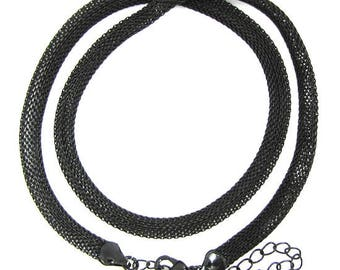 """6mm black chain necklace 16"""" 725"""