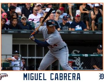 Miguel Cabrera Detroit Tigers Canvas Wrap