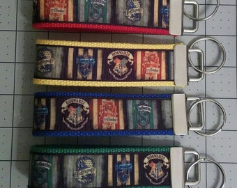 House color wristlet key fobs 1-1/4 inch wide