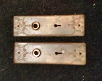 Classic Door Back Plates For Mortise Locks - Hardware Solid Brass Vintage