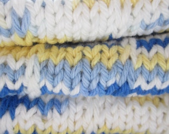 hand knitted dish cloth,cotton ,8x13 ,ready to ship