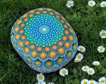 Dream reader - hand-painted stone - mandala