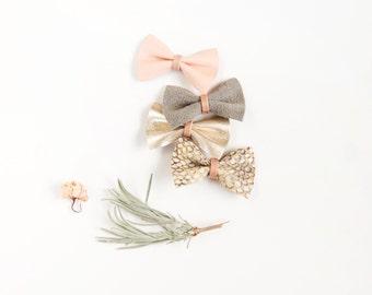 New Born Christmas Bows, Holiday Bows, Leather Bows, Nylon headband, Pink Bow, Gray Bow, Little Girl Bow, Adult Bow, Baby Bow, Bow Headband