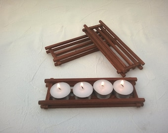 Wooden Tea Light Holder