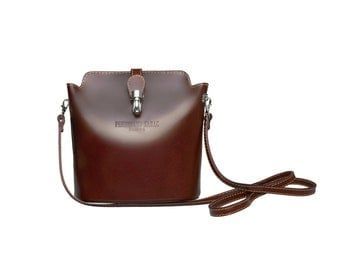 Leather Bag | Leather Handbag VERONA by FERDINAND SABAC | Womans Gift | Brown Bag Shoulder Bag Womens Bag Evening Bag | Modern Minimalistic