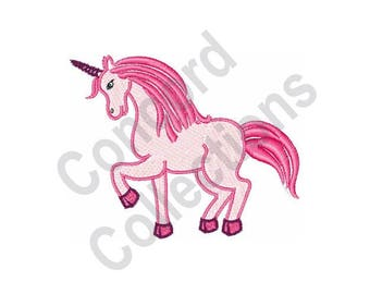 Pink Unicorn Machine Embroidery Design