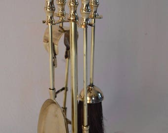 Gorgeous Brass Fireplace accessories/ Fireplace tools