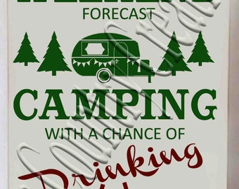 Weekend Forecast Camper Retro