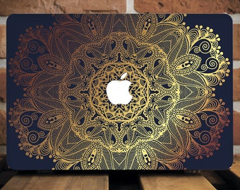 Gold Henna MacBook Pro Hard Case MacBook Air Hard Case MacBook Pro Case 13 inch MacBook Air Case 11 inch Macbook Pro Cover Mac Air WCm084