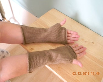 Handmade fingerless gloves (longer length)