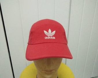 Rare Vintage ADIDAS Trefoil Big Logo 5 Panel Cap Hat Free size fit all