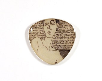 Modern Brooch, Sterling Silver Resin Brooch, Resin Brooch, Contemporary Brooch, Resin Art, Unique Gift, Resin Jewelry