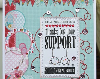 Thanks For Your Support Handmade Greeting Card