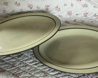 Hornsea Cornrose oval plates