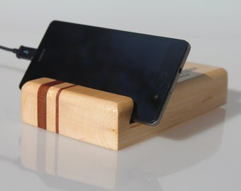 Personalized wooden iPhone charging station, Stand for smartphone, Docking station, Charging station, iPhone stand, iPad stand