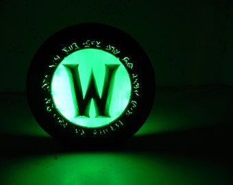 World of Warcraft logo night lamp