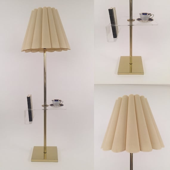 Hollywood regency floor lamp with lucite book holder