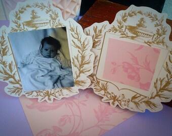 Anna Griffin Paper Diecuts Embellishments Gold Urn Wedding Placecards Scrapbook Supplies