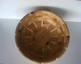 Segmented fruit wood bowl