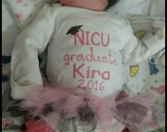 NICU Graduate Onsie with Headband and Tutu