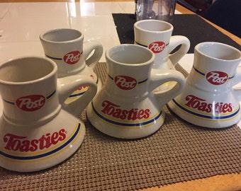 Post Toasties ceral mugs