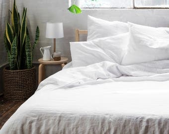 Linen SHEET + PC SET (Fitted + Flat + 2 Pillowcases) 100% French Flax, Made to Order