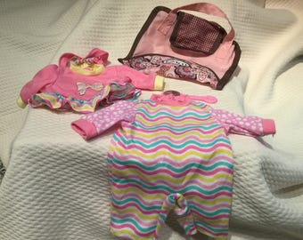 Baby Doll Diaper Bag Accessory Toy Pretend Play with doll clothing