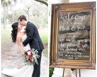 Custom Wedding Mirror Sign