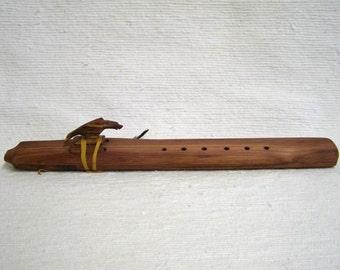 Native American Navajo Made Cedar Drone Flutes--A Minor