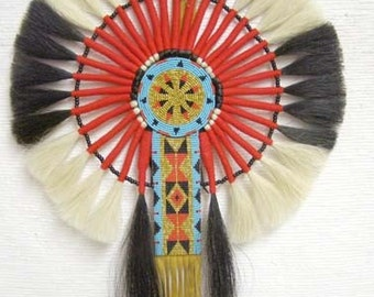 Native American Made Horsehair Bustle