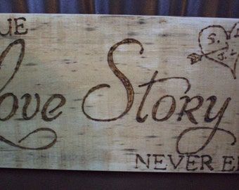 Love Story Valentines sign