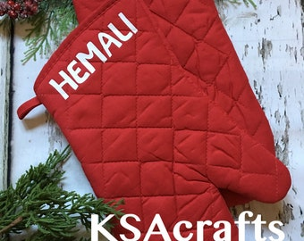 Oven Mitts, Pot Holders, Personalized Pot Holders