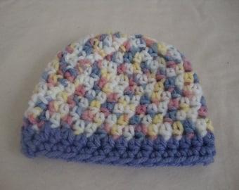 Preemie Baby Hat, Preemie Girls Hat, Preemie 3-4 lbs Baby Hat, Preemie Baby Cap, Preemie Girls Cap, Preemie Cap, Preemie Hat, Multi Color