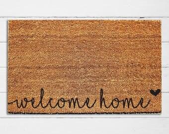 Awesome Welcome Home | Welcome Doormat | Welcome Mat | Door Mat | Outdoor Rug | Coir