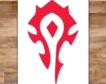 World of Warcraft Horde Decal - World Of Warcraft Sticker Wow Decal - Video Game Decals Geek Decals Video Game Decor