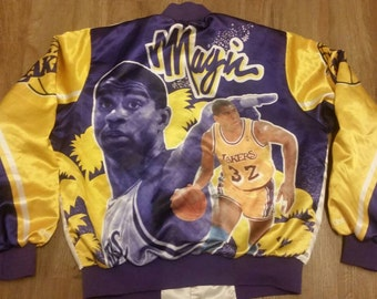 Lakers chalkline jacket,fanimation jacket size large,rhcp, red hot chili peppers, flea,90s, large,vtg, LA Lakers, showtime,magic johnson,NBA
