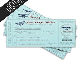 Time Flies Aviation Birthday Invitation, Airplane LIttle Pilot Theme - Digital Invitation