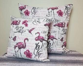 Flamingo euro pillow covers. Flamingo pillows, european pillow, flamingo cushion, cushion covers, pillow covers, decorative pillows