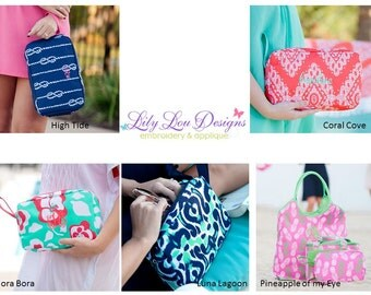 Monogrammed Cosmetic Bag- fast shipping!