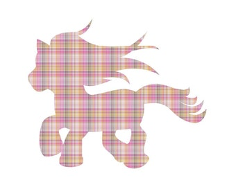 Pink Flannel Pattern Craft Vinyl. UV Laminated. Various Sizes Available.