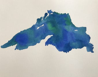 Lake Superior Original Watercolor Painting--11x15