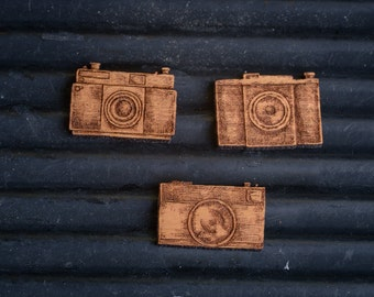 Vintage Rangefinder Camera Badge