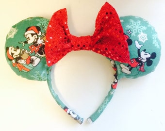 Mint Christmas Mickey Ears