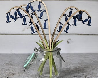 Springtime bluebells, Blue flower, Spring flower, flower wedding favour, Flower gift, Anniversary gift, Birthday flowers, Springtime flowers