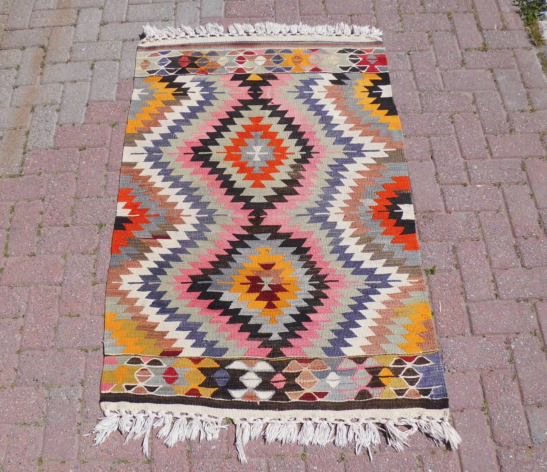 Vintage Turkish Kilim Rug Rugs Area Rug Home Decor Vintage